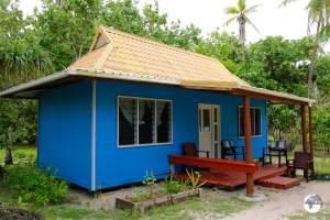 A typical 'Fale' at the Royal Sunset Island Resort on 'Atata.