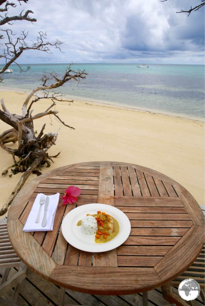 The perfect setting for lunch on Fafa Island.