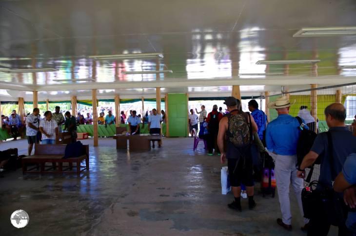 Arriving at Funafuti International Airport.