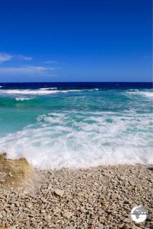 The 'calm' lagoon side of Funafuti.