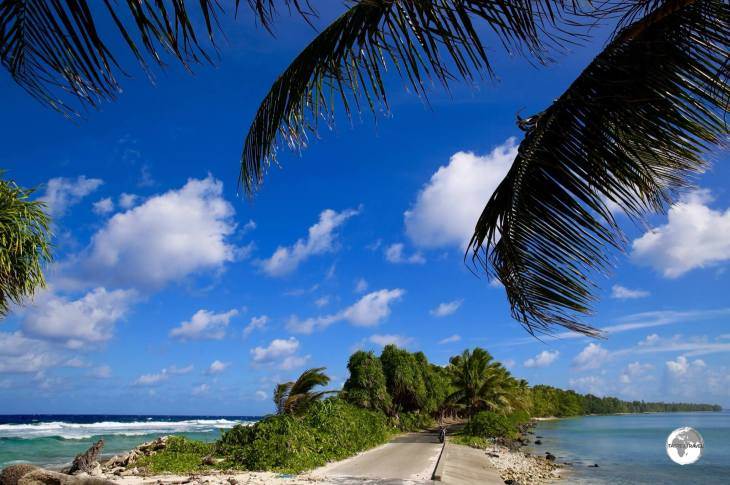 The narrowest point on Funafuti, Tengako peninsula, is wide enough for a single-lane road, which is often inundated.