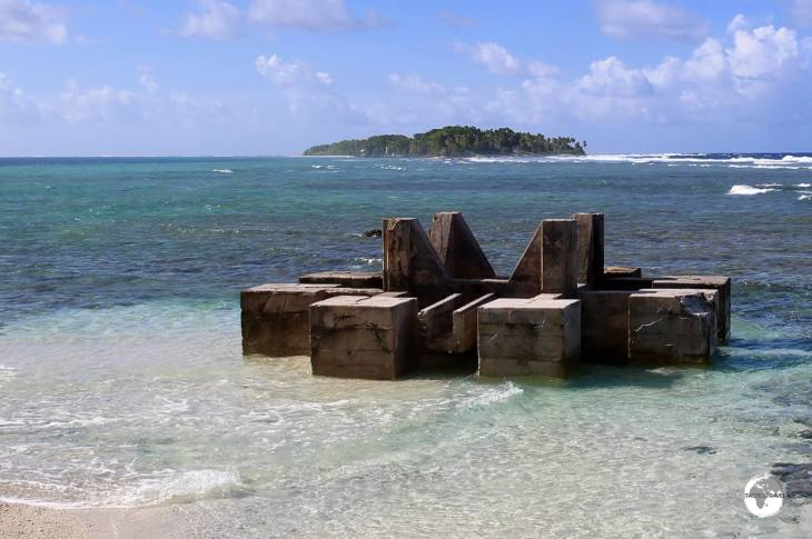 A US-built WWII installation guards the entrance to the lagoon at the northern end of Funafuti.