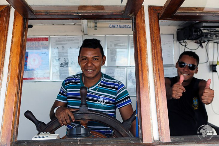 The friendly crew of my slow boat from Manaus to Santarém.