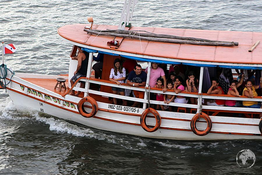A passenger ferry near Belém.