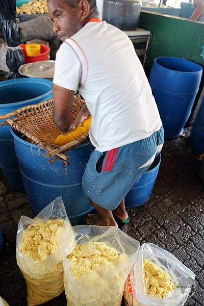 Preparing Farofa in the Ver-O-Peso market in Belem.