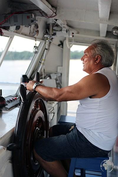 The captain of the M/VSao Francisco de Paula en-route to Macapa.