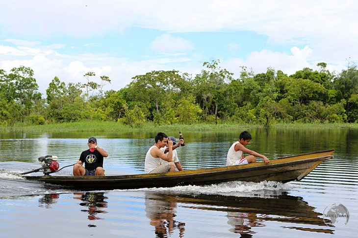 Boats are the primary means of transportation around the city of Iquitos, the largest Peruvian metropolis on the Amazon river.