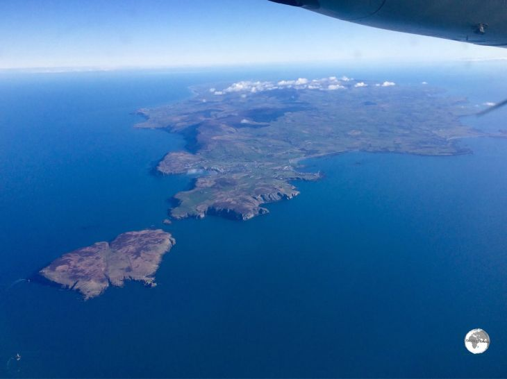 The view of the Isle of Man from my Aer Lingus flight.
