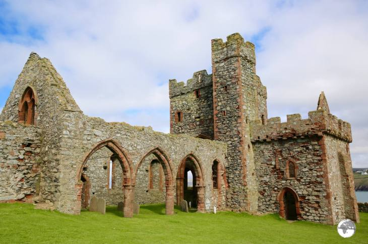 The ruined Cathedral inside Peel castle.