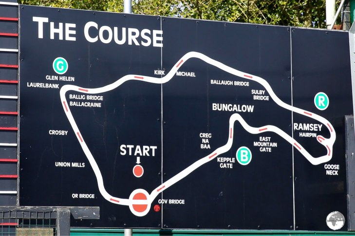 The International Isle of Man TT (Tourist Trophy) racing circuit.
