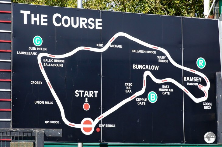 A map of the TT Race course.