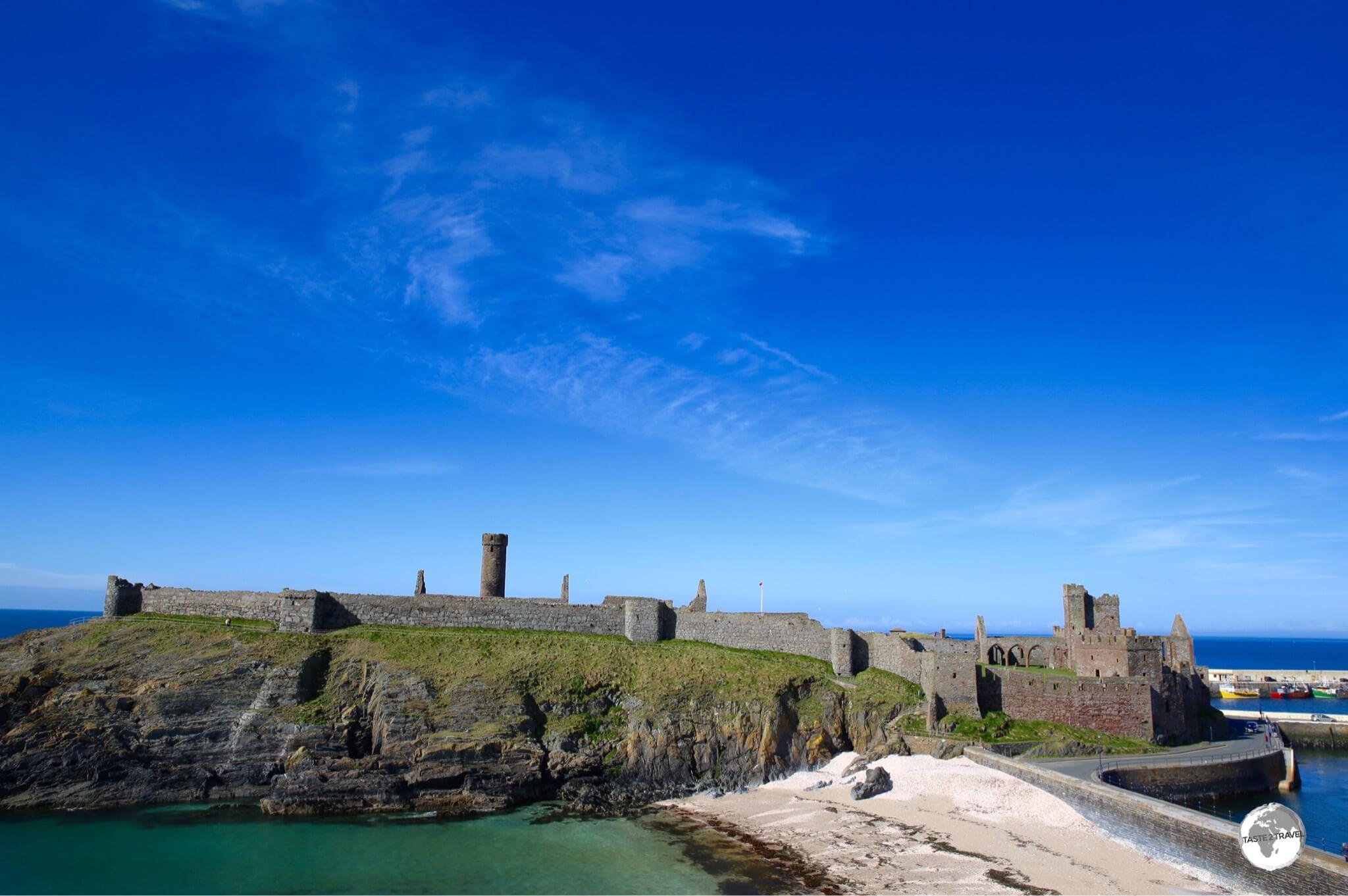 The sprawling 11th-century Peel castle.