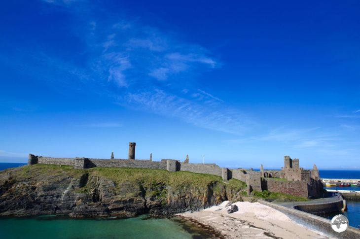 The sprawling 11th-century Peel castle.