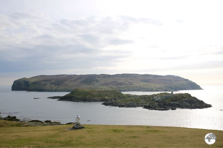 A view of the uninhabited 'Calf of Man'.