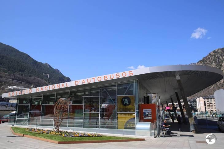 Bus station, Andorra La Vella.