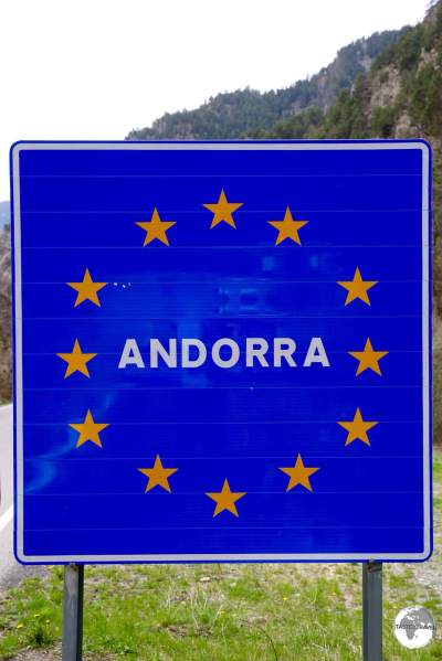 Andorra Welcome Sign