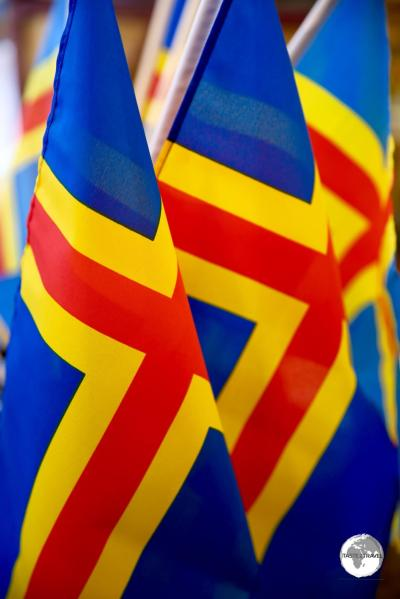 The flag of the Åland islands.