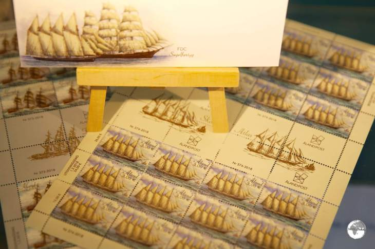 Maritime themes are popular subjects on Åland stamps.