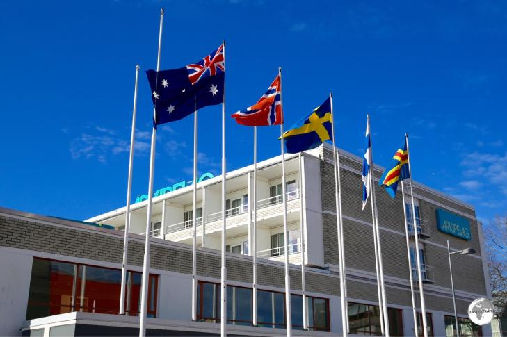 The Australian flag flew outside the Hotel Arkipelag for the duration of my stay.