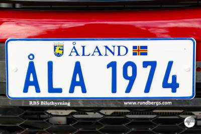 The Åland Islands number plate on my rental car.