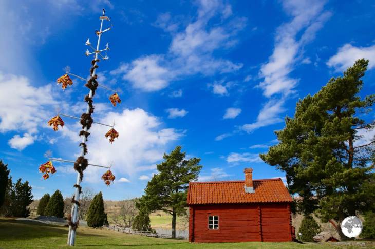 Aland Islands Travel Guide: Maypole at the Jan Karlsgården Open-Air Museum.