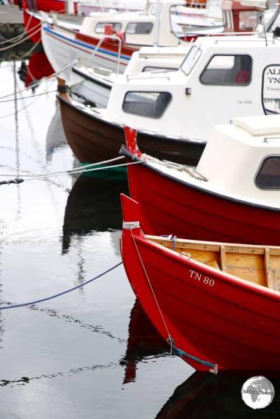 Boats in Tórshavn.