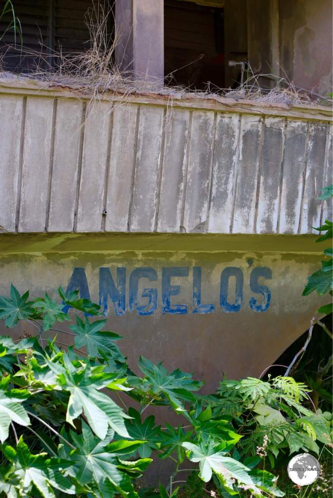 The former entrance to Angelo's supermarket. A new branch has now opened in Brades.