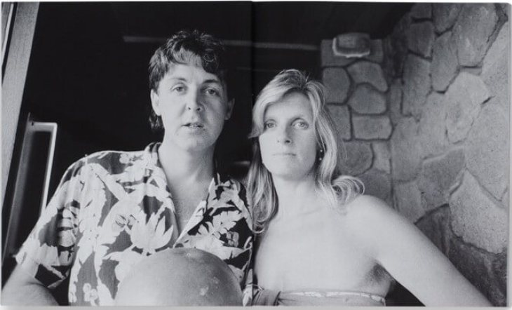 A photo of Paul and Linda McCartney on Montserrat.