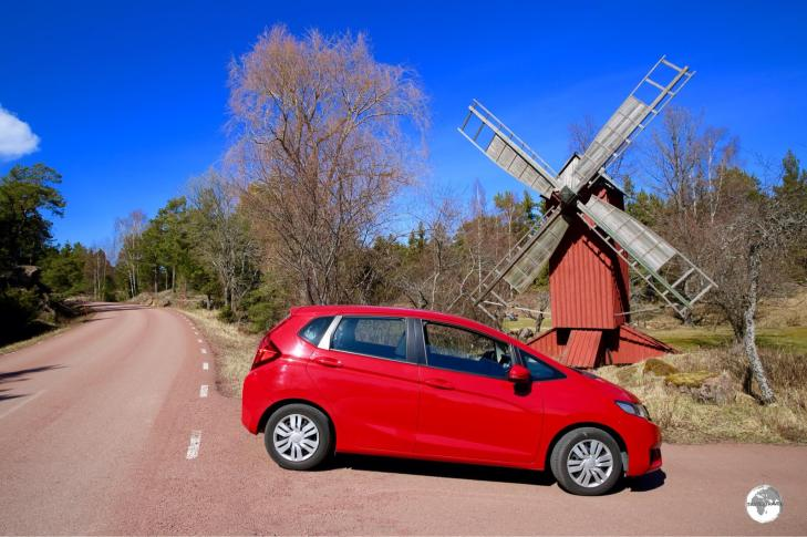 Exploring the Åland islands in my rental car.