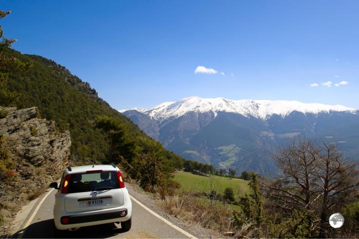 The back roads of Andorra offer many stunning panoramas.