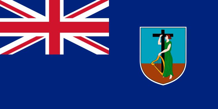 The flag of Montserrat.