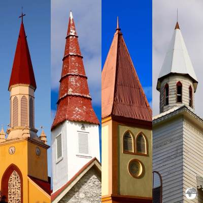 Church steeples on Tahiti.