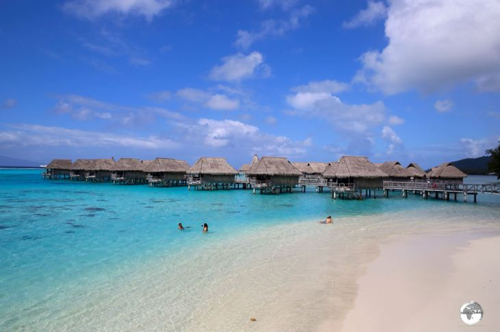 Both the Hilton and Sofitel offer 'over-the-water' bungalows at their Moorea resorts.
