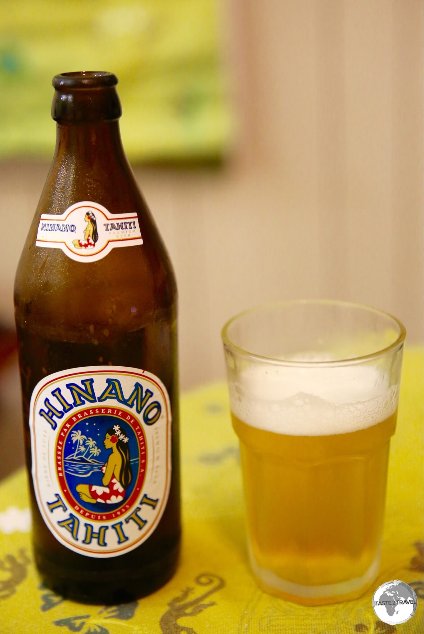 The local brew, Hinano Beer has a wonderfully, light, delicate favour.