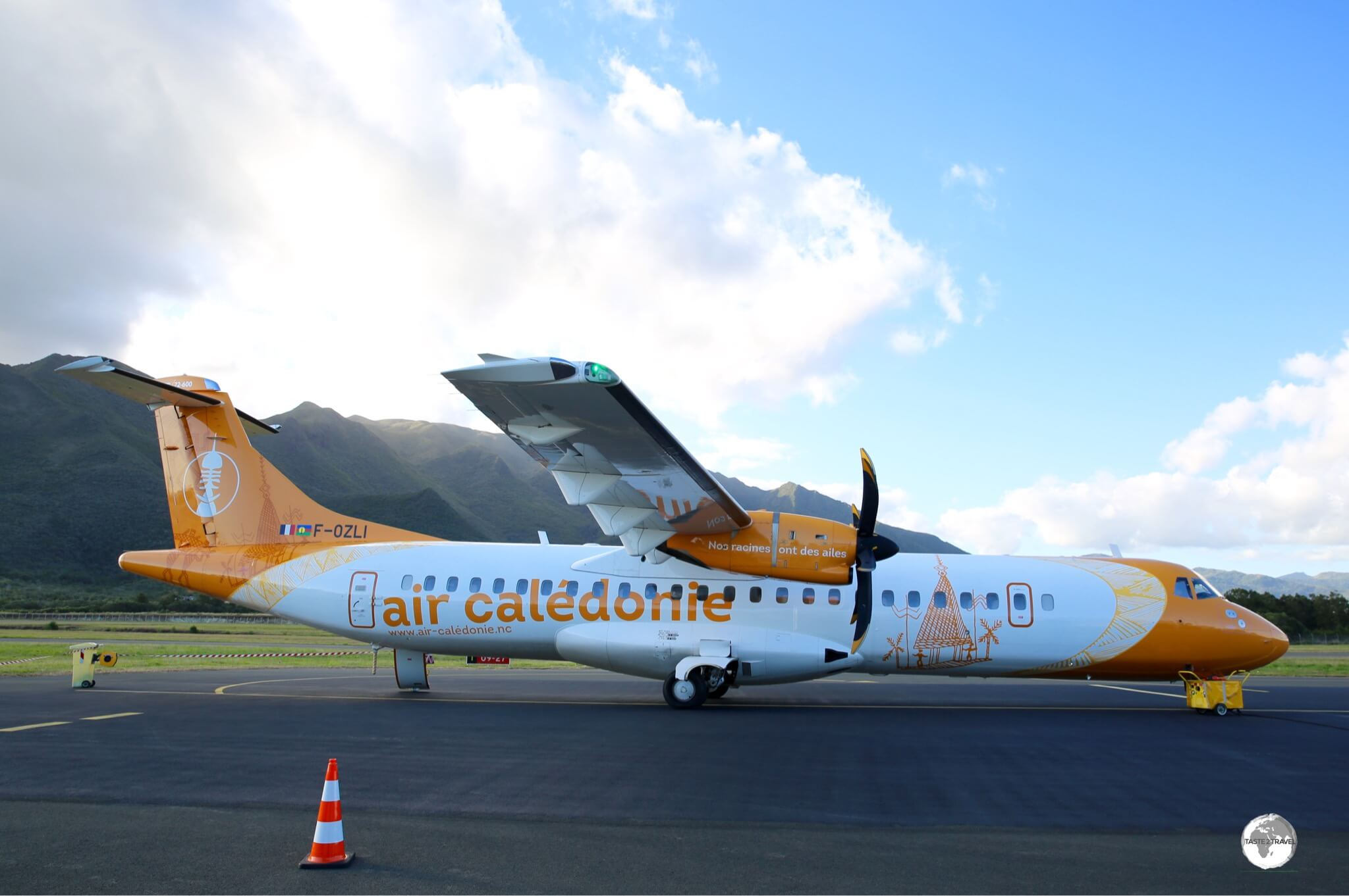 An Air Caledonie flight, ready to depart Koné airport.