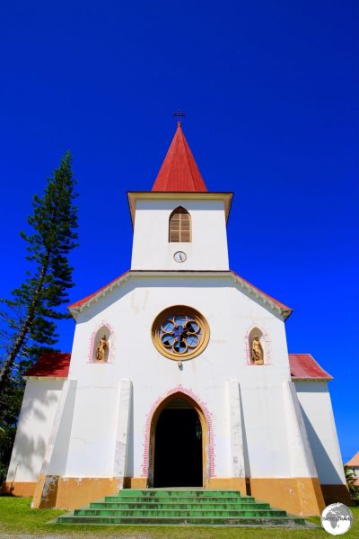 Historic St. Louis church is located on a hill, on the outskirts of Noumea.