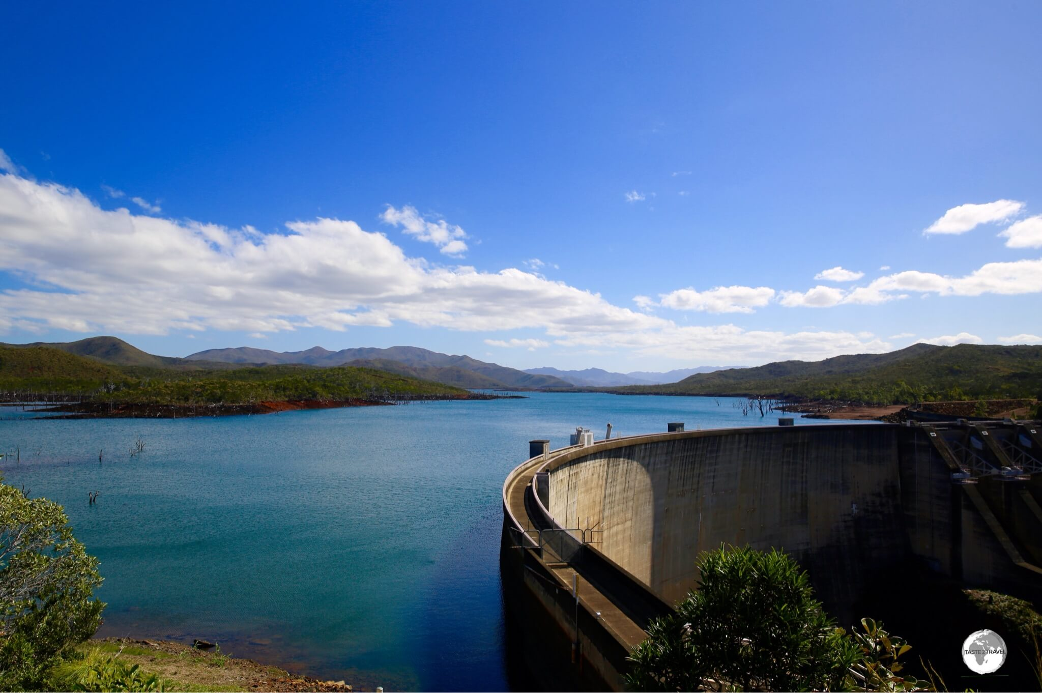 The impressive Yaté Dam was constructed in 1959 to provide power to the SLN Nickel plant in Ducos (Nouméa),