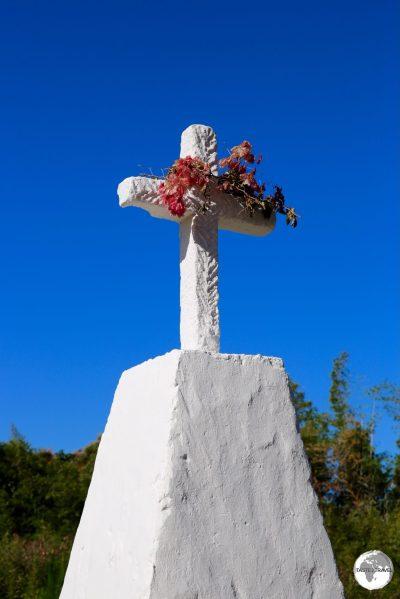 A roadside cemetery on La Grand Terre.