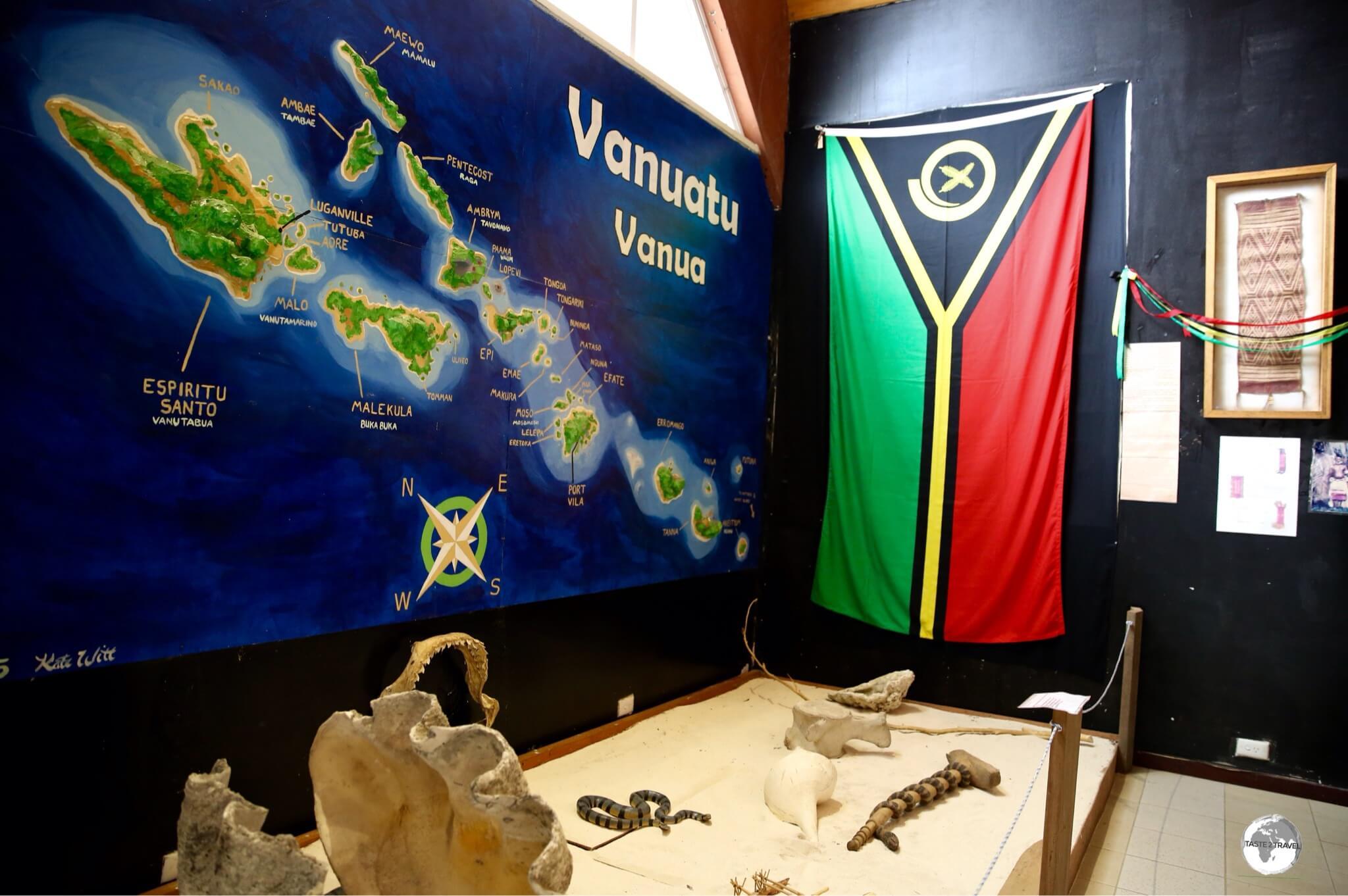 A display at the Vanuatu National Museum in Port Vila.