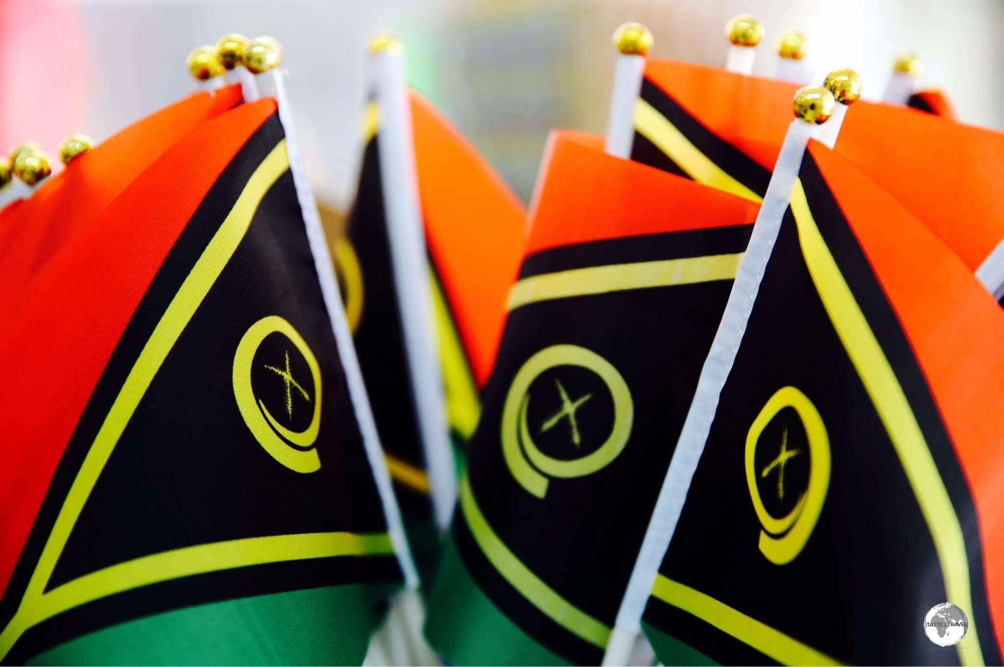The flag of Vanuatu.