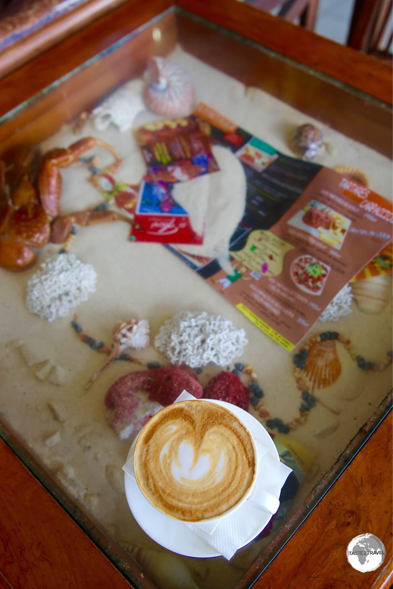 Coffee at Au Peche Mignon in Port Vila.