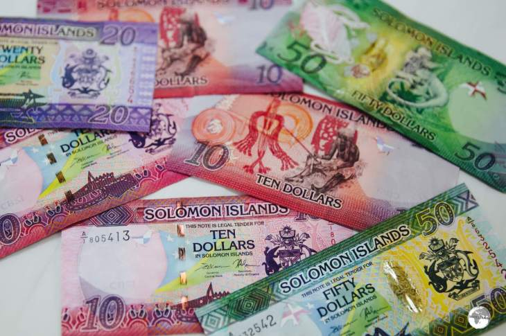 The colourful Solomon Islands dollar.