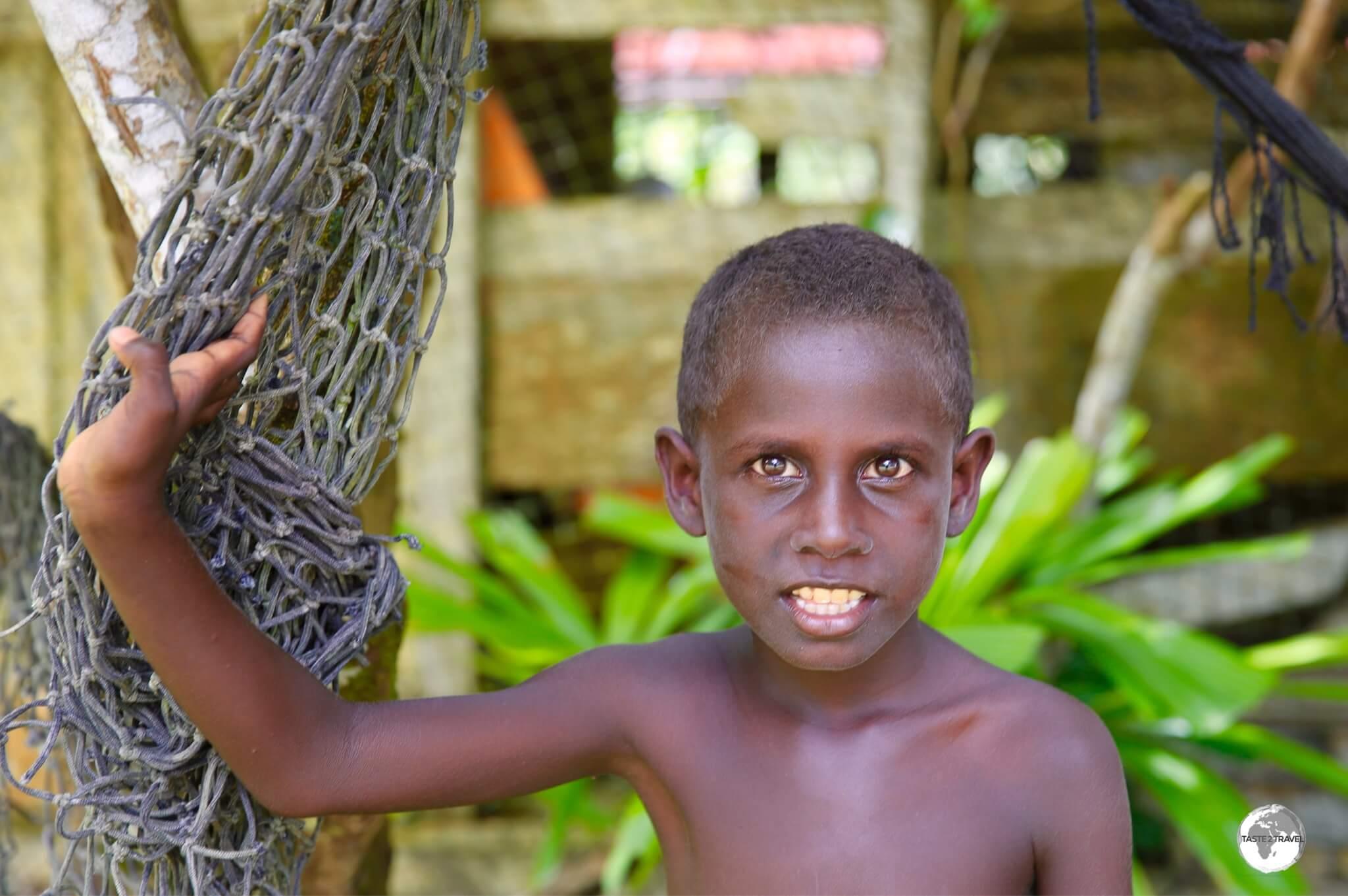 Children in the Solomon Islands love posing for the camera.