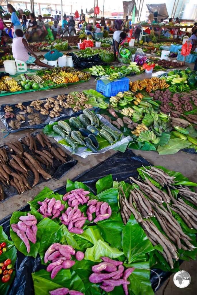 Produce at Gizo market.