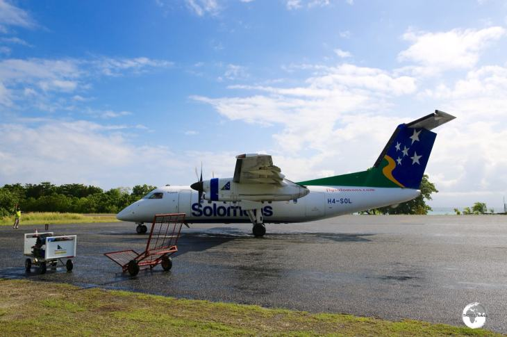 Departing Gizo for Honiara with Solomon Airways.