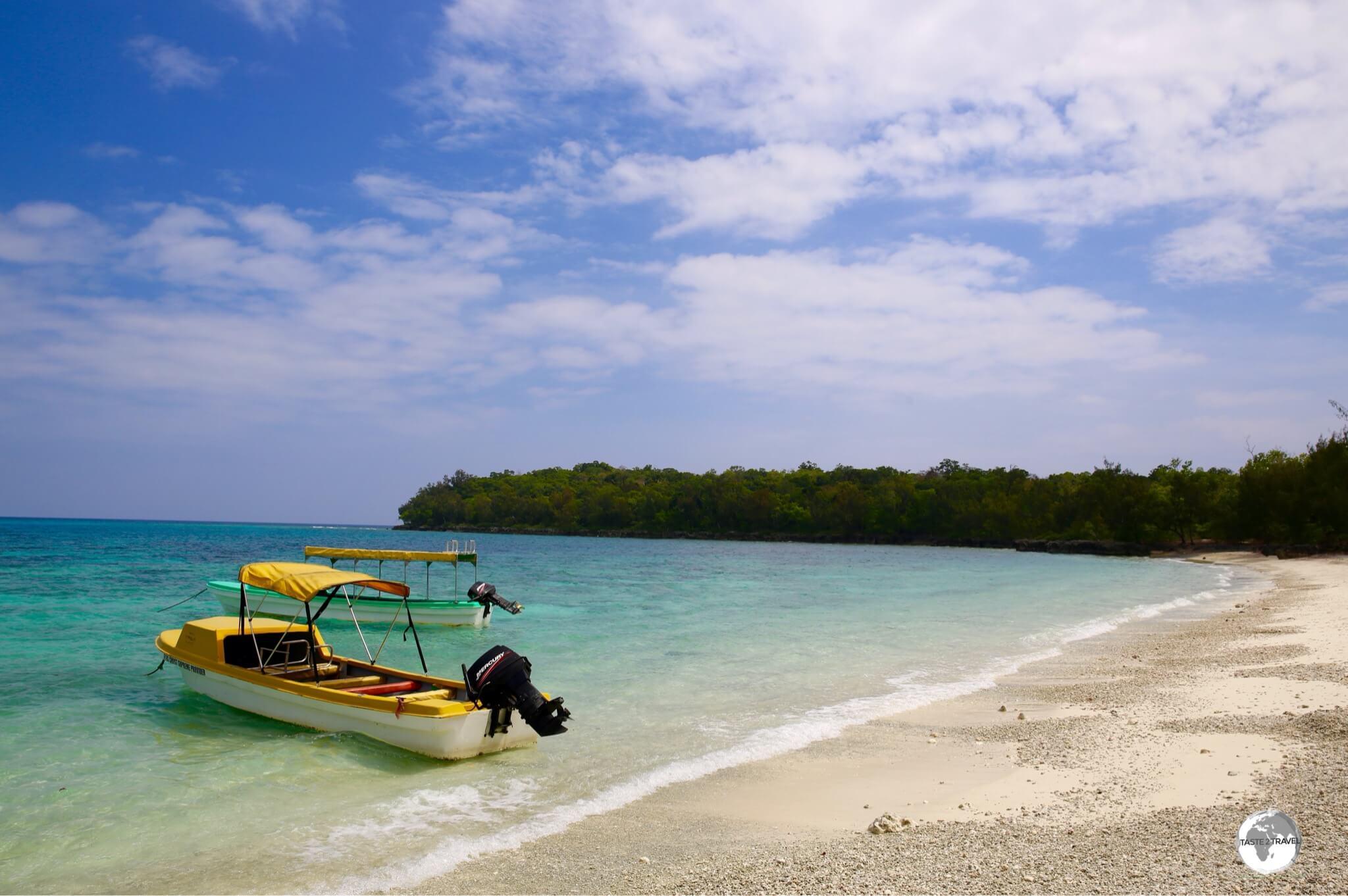 A beach on Lelepa Island.