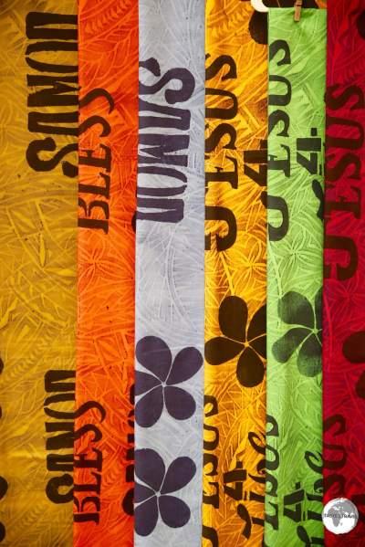 'Samoan' souvenirs on sale at Fagatogo market.