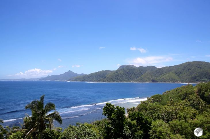 A view along the south coast of Tutuila.