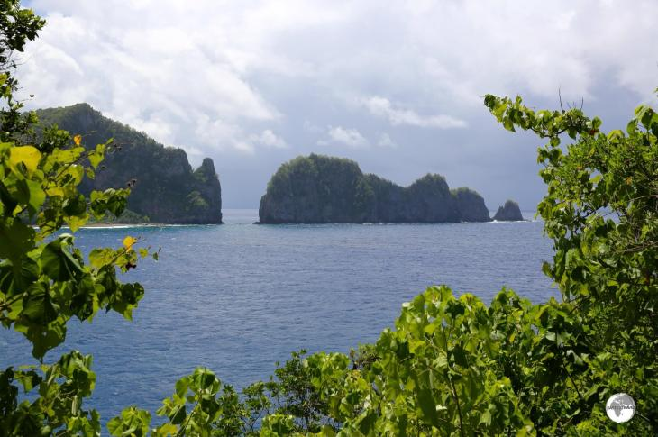 A view of Pola Island from Craggy Point, part of the American Samoa National Park.