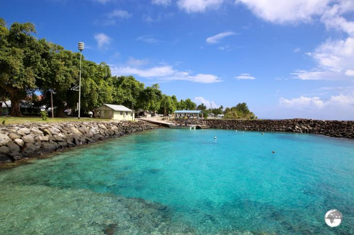 The environment on Aunu'u island is pristine, including the pretty wharf.